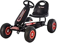 Lvbeis Kids Pedal Go-Kart Ride On Rubber Wheels Sports Racing Toy Car.Give Your Child The Best GiftProduct Features:- Rubber tyres for a superior ride.Non-slip, waterproof and shockproof. Inflatable- Easy assembly.No difficult assembly required, this...