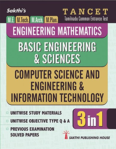 Tancet - Computer Science And Engineering & Information Technology, Engineering mathematics And Basic Engineering Science (3 in 1) Book
