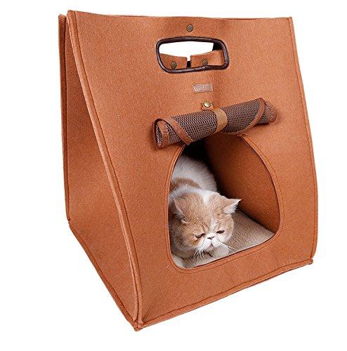 Dell'animale domestico del gatto del cane Coniglio House Piccolo cane del gatto della gabbia in feltro Panno Handbag Soft Mat Kennel caldo cuscino lavabile borsa coperta Pet Carrier 2 colori ,