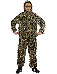 Hojas Ghillie Suit Woodland Camo camuflaje ropa 3d selva caza