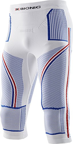 X-Bionic ENERGY ACCUMULATOR Patriot Edition Tights 3/4 Herren, Weiß/Blau/Rot Weiß / Blau / Rot