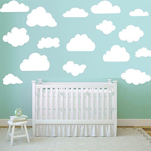 Vinilos decorativo infantil de nubes 16 ud. Vinilo adhesivo con nubes decoración....