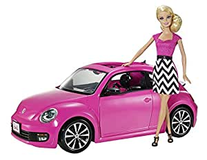 voiture coccinelle rose barbie