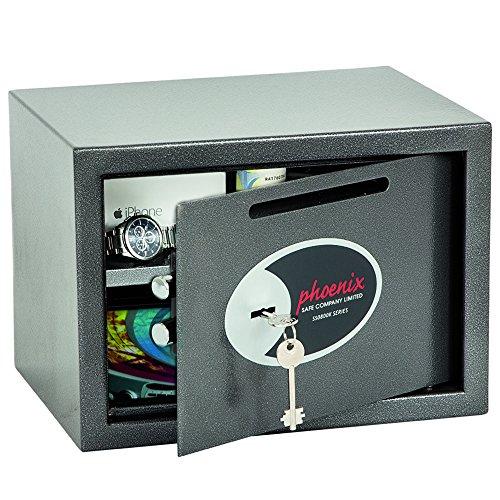 Phoenix SS0802KD Coffre De Sécurité Et De Dépôt Vela Avec Serrure À Clef (Petit)