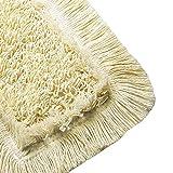 2X Wischmop Baumwollmopp aus 100% Baumwolle Wischmopp 40 cm - Wischbezug für Echtholz Bodenpflege - Speziell für Parkett Laminat & Fliesen und Werkstätten