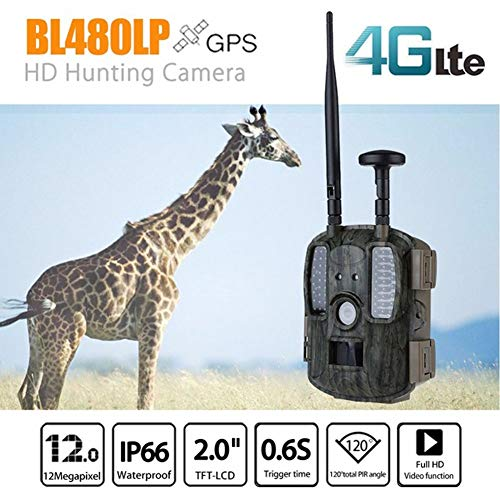 MC.PIG Wildkamera Jagdkamera 4G LTE Cellular & GPS-Jagdkamera Trail-Cam, Wildlife-Kamera 12MP 1080P Volle HD-Jagdkamera, 52 Stück IR LED Wasserdichte Infrarot-Spiel-Kamera 4,0 (größe : A)