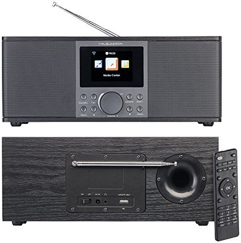 VR-Radio DAB Internet Radio: Stereo-Internetradio mit DAB+, FM, Bluetooth, Wecker, 32 Watt, schwarz (WLAN Internetradio)
