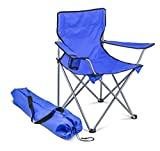 Campingstuhl - Faltstuhl - Anglerstuhl - blau - Einzeln - Im Set - 2 Stück - 6 Stück