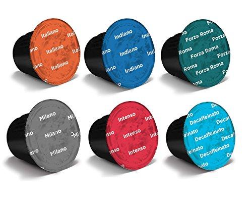 Get 60 x Nespresso Compatible Coffee Capsules / Pods Espresso - 6 Different Blends by Espresso Coffee Club