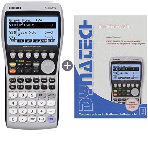 Casio FX-9860 G II + Buch: Im Fokus II: Casio FX-9860GII verständlich erklärt (Taschenrechner Casio Grafik)