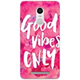 Mi Note 3 Back Cover - Good Vibes Only - Pink Burst - So Girly - Hard Shell Back Case