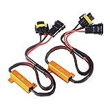 XCSOURCE 2Pcs H11 50W 6ohm LED Load Resistors Canbus Error Free Warning Eliminator Canceller for LED Fog Light MA962