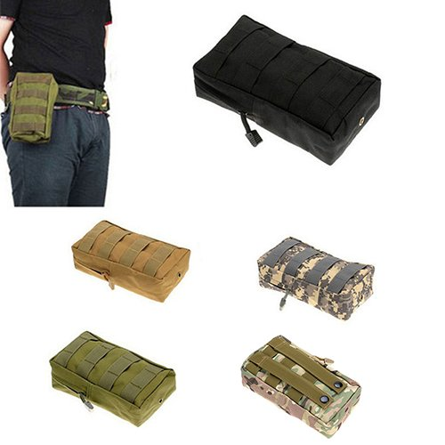 nighteyes66 Nylon Outdoor Tactical MOLLE UTILITY Tasche Camping Jagd Militär Combat Taille Pouch Bag hautfarben