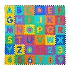 Idea Regalo - VeloVendo® - Tappeto Puzzle con Certificato CE e Certificazione SGS in soffice Schiuma Eva | Tappeto da Gioco per Bambini | Tappetino Puzzle (Lettere + Numeri)