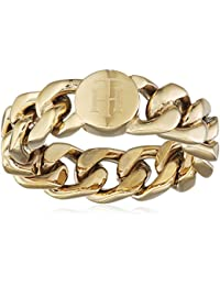 5de30805a Tommy Hilfiger Women's Gold-Plated Stainless-Steel Chain Ring - Size D