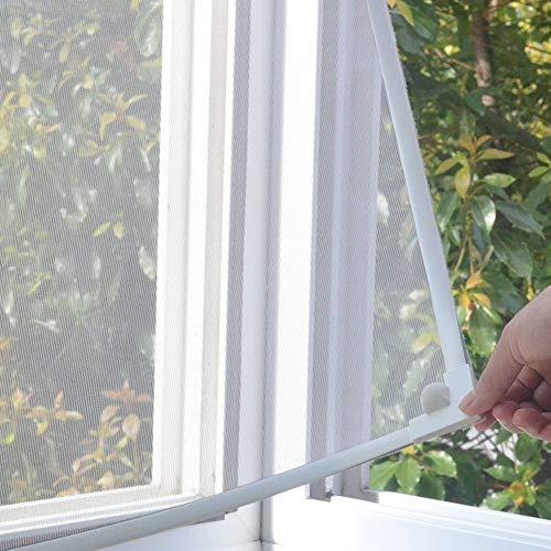 Jffffwi silk road magnetico tenda netto, anti zanzare invisibile bug schermo magnetico tende finestra rimovibile ghiaioni screen-white polvere 80x160cm(31x63pollici)