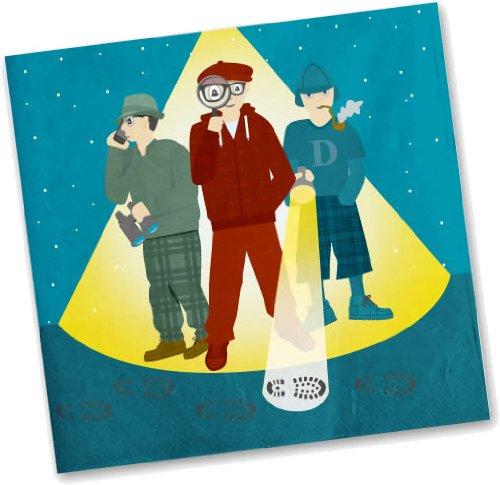 20 Papierservietten im * DETEKTIV * für Party und Geburtstag von DH-Konzept // Servietten Napkins Feier Fete Set Mottoparty Sherlock Holmes