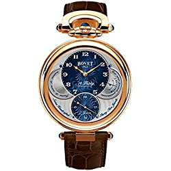BOVET Men's Amadeo Fleurier 19 Thirty 42mm Alligator Leather Band Rose Gold Case Mechanical Watch NTR0013
