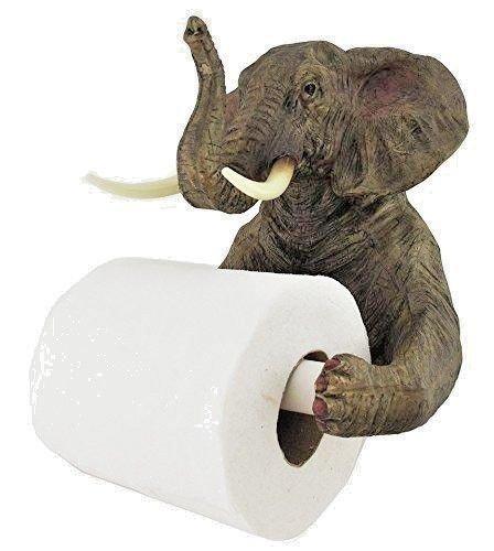Elefanten-Toilettenpapierhalter von HomeZone®, Wandmontage, Toilettenpapier-Spender/-Halter, Badezimmerdekoration