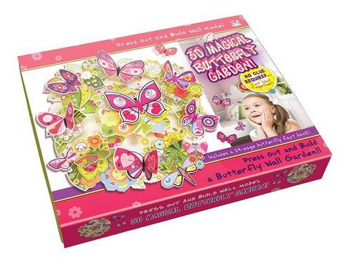 3D Magical Butterfly Garden - Press Out & Build Wall Art (Press out & Build Wall Model)