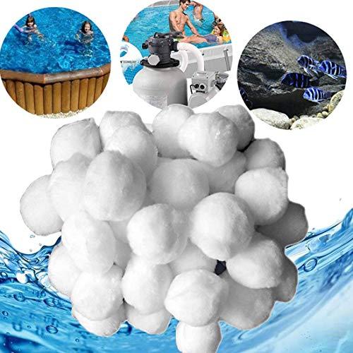 joyliveCY Filter Balls 700g Filtermaterial für Poolpumpe Filteranlagenzubehör Sandfilter Filtersand Quarzsand Pool Poolfilter