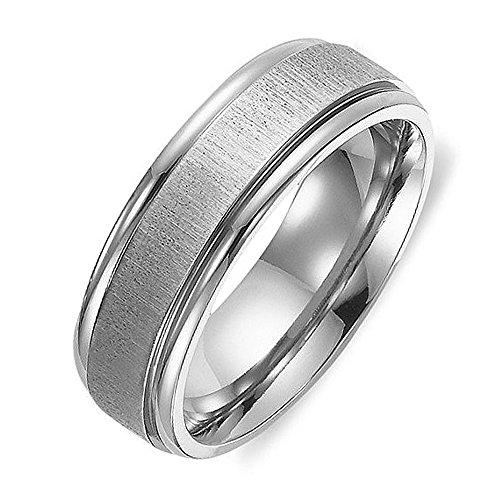 Gemini Men's or Women's Matt & Polish Anniversary Wedding Titanium Ring Valentine's Day Gift for Men