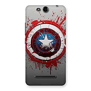 Wo Blood Red Round Back Case Cover for Micromax Canvas Juice 3 Q392