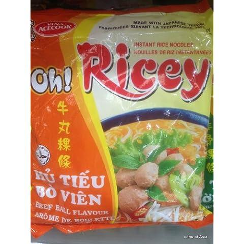 Oh! Ricey spaghetti di riso vietnamita Manzo palla Flavour 70g x 4 confezioni