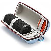 Étui Rigide Housse de Transport pour JBL Flip 4 / JBL Flip 3 Sans fil Enceinte portable Bluetooth,Adapté au câble USB et au Chargeur Mural-Bleu