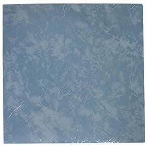 28 x vinyl bodenfliesen selbstklebend k che badezimmer klebrig brandneu einfarbig blau. Black Bedroom Furniture Sets. Home Design Ideas