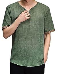 it camicia lino Abbigliamento uomo Uomo Amazon RwH5dq4H