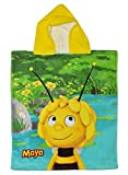 Unbekannt Badeponcho -  Biene Maja  - 50 cm * 115 cm - 4 bis 8 Jahre Poncho - mit Kapuze - Handtuch Strandtuch Baumwolle - Jungen & Mädchen für Kinder Badehandtuch - ..