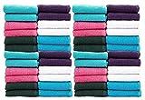#6: Casa Copenhagen-Basics Set of 100 Pcs Face Towels-(Assorted Any 100 Pcs Face Towels