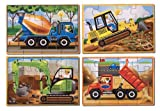 Enlarge toy image: Melissa & Doug Construction Vehicles 4-in-1 Wooden Jigsaw Puzzles (48 pcs) -  preschool activity for young kids