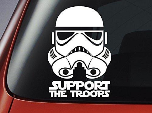 Star Wars Classic Imperial Stormtrooper Apoyo a las Tropas '–Vinilo–Adhesivo para coche, ventana, pared, portátil