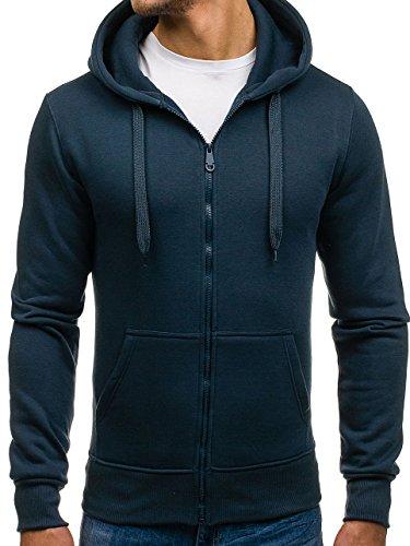 BOLF Kapuzenpullover Sweatshirt Hoodie Zip J.STYLE 2008 Dunkelblau L [1A1] (Sweater Zip)