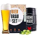Bierbrauset zum selber brauen | Weißbier im 5L Fass | In 7 Tagen gebraut | Tolles Geburtstagsgeschenk aus München Bayern | von Braufässchen