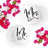 Mr./Mrs. Couple Mug - Combo Coffee Mug Set Of 2 Mugs- Perfect Gift For Husband And Wife Anniversary - Boyfriend & Girlfriend - Birthday - Wedding - Mugs For Couples Valentines Day From Devron