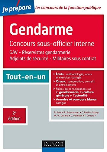 Le concours Gendarme sous-officier interne - 2e d. - Tout-en-un