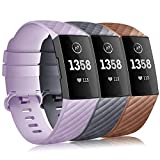 Gogoings pour Fitbit Charge 3 Bracelet - Souple Réglable Band De Rechange Sport...