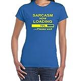 Diseño con texto en inglés texto en inglés de una consignas para mujer diseño de T-shirts-Sarcasm ahora tapa en la parte T-de manga corta de mujer-ideal para regalo Ideas