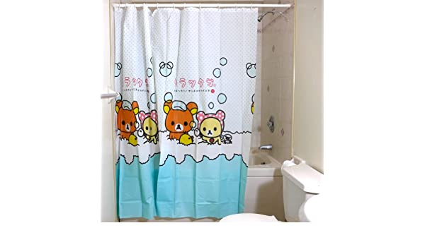 Rilakkuma Shower Curtain  Bubble Bath  Amazon.co.uk  Toys   Games 134432b10