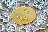 Smiley von Hinten Ausstechform 6cm Präge-Ausstecher Liebe Kamasutra 3D Keksausstecher Cookie Cutter Backen Fondant Plätzchen