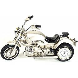 Cosmo 2014106 Miniatur Motorrad Tischuhr Uhr Analog weiß