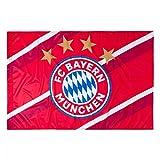 FC Bayern Fahne Stripes, Flagge 150 x 100 cm - Plus Gratis Lesezeichen