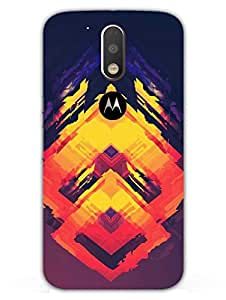 Moto G4 Plus Back Cover - Abstract Squares - Colorful - Designer Printed Hard Shell Case