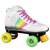 Rookie Forever Rainbow V2Rollschuhe mit 4Rollen, Unisex, für Kinder 34 Weiß / mehrfarbig