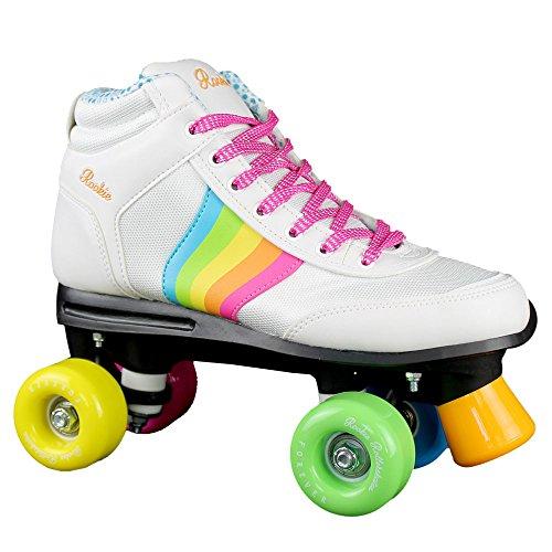 Rookie Forever Rainbow V2Rollschuhe mit 4Rollen, Unisex, für Kinder, Forever Rainbow V2, Weiß/Mehrfarbig