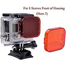 HERO 5filtro, homree rojo GoPro Filtro de corrección de fijación para cámara lente filtro para Buceo Fotografía, for Hero 3/SJ4000