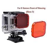 Hero 5Filter, homree rot GoPro Filter Korrektur Sony Unterwasser Kamera Objektiv Filter für Tauchen Fotografie, for Hero 3/SJ4000